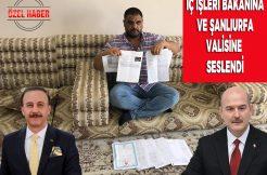Tehdit Edilen İş Adamı İç İşleri Bakanına ve Şanlıurfa Valisi'ne Mektup Yazdı