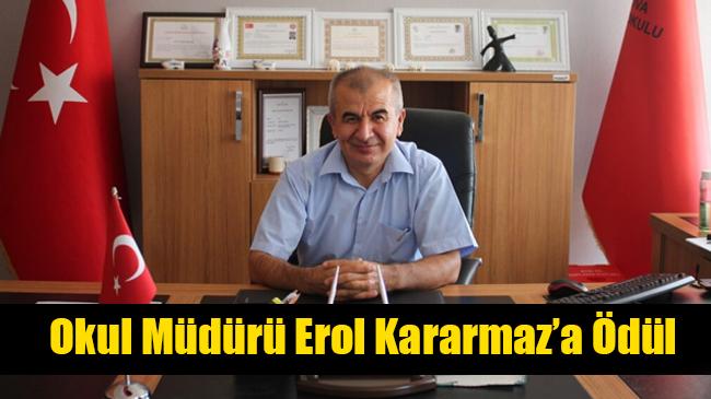 Okul Müdürü Erol Kararmaz'a Ödül